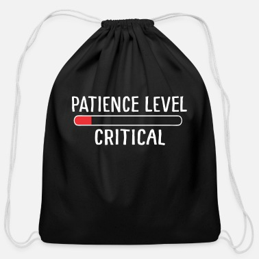 90 Min Critical Patience - Cotton Drawstring Bag