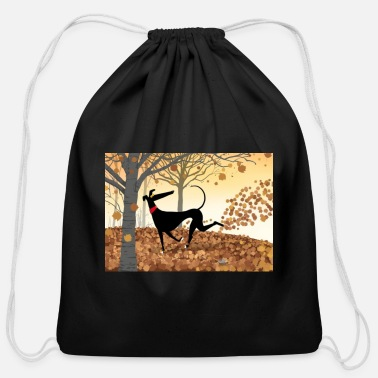 Greyhound Antlers - Cotton Drawstring Bag
