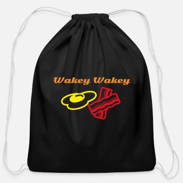Wakey Wakey Eggs and Bakey - Cotton Drawstring Bag