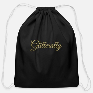 Glitter Glitterally Glitter Literally Gold - Cotton Drawstring Bag