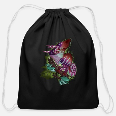 Original Art Trimeleon Chameleon Original Art - Cotton Drawstring Bag