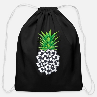 Pineapple And Soccer Cool Soccer Ball Pineapple Funny Kick Sport Athlet - Cotton Drawstring Bag