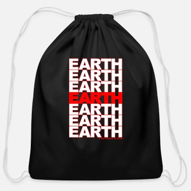 Food earth - take out - Cotton Drawstring Bag