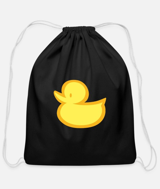 Rubber Duck Bags & Backpacks - Yellow Cool Rubber Duck - Cotton Drawstring Bag black