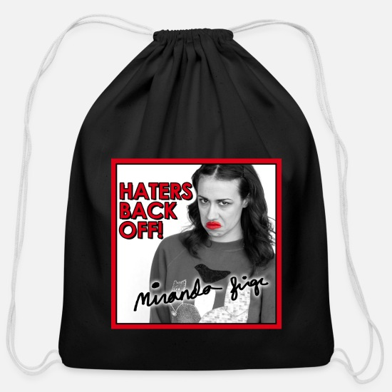 Miranda Bags & Backpacks - Miranda Sings Haters Back Off! - Cotton Drawstring Bag black