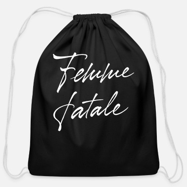 Fatal Femme Fatale - Cotton Drawstring Bag