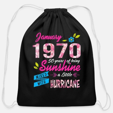 Teerich 51 Years old Sunshine January Made in 1970 - Cotton Drawstring Bag
