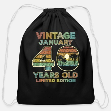Teerich 40th Birthday Gift Vintage January 1981 - Cotton Drawstring Bag