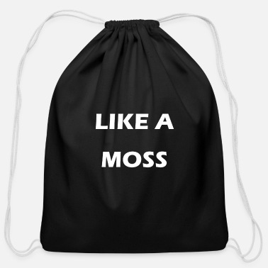 Moss like a moss - Cotton Drawstring Bag