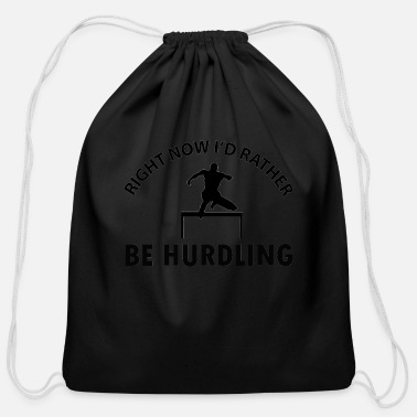 Hurdles Hurdling design - Cotton Drawstring Bag