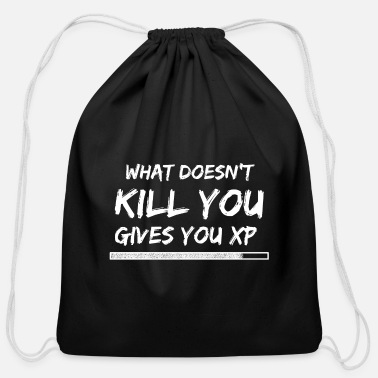 Pvp What does not kill you gives you XP - Cotton Drawstring Bag