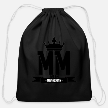Marksman marksman black had - Cotton Drawstring Bag