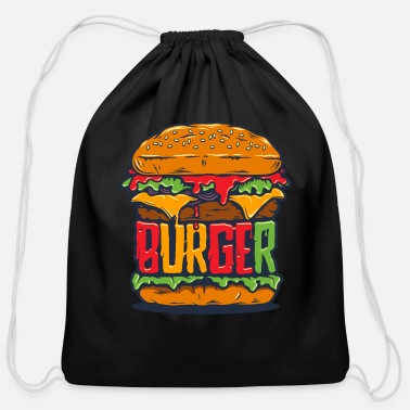 Food Funny Burger Mode - Cotton Drawstring Bag