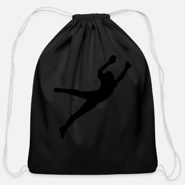 Jumping jump - Cotton Drawstring Bag