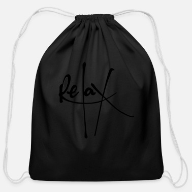 Relaxing Relax - Cotton Drawstring Bag
