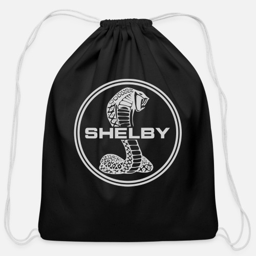 White Cobra Car Logo Cotton Drawstring Bag Spreadshirt