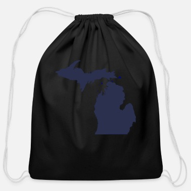 State MI Michigan - Cotton Drawstring Bag