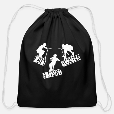 Am I am a Stunt Scooter - Cotton Drawstring Bag