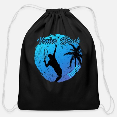 Hollywood Venice Beach Tennis - Cotton Drawstring Bag