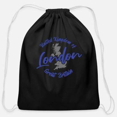 Kingdom London UK of Great Britain - Cotton Drawstring Bag