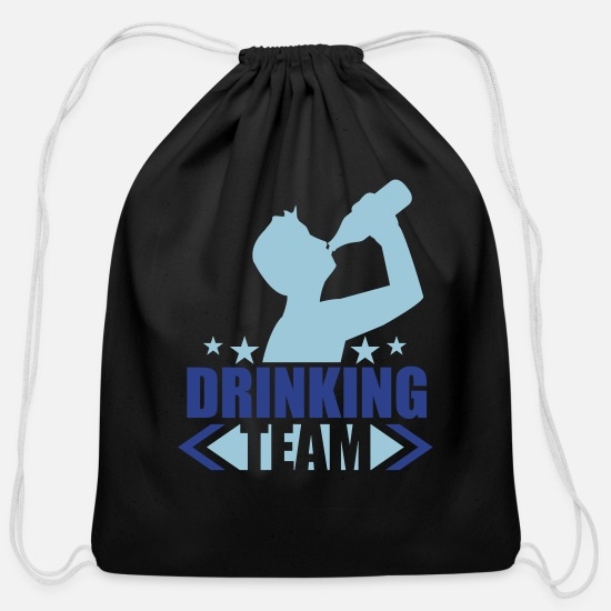 Drinking Bags & Backpacks - logo text oktoberfest alcohol beer booze drinking - Cotton Drawstring Bag black