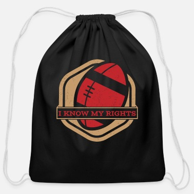 49ers Take A Knee I Am With Kap Shirt My Rights Badge 2 - Cotton Drawstring Bag