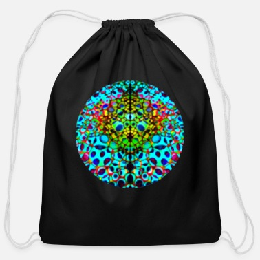Sphere Psychedelic Sphere - Cotton Drawstring Bag