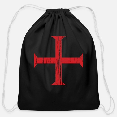 Templar Knights Knights Templar Crusader Cross - Cotton Drawstring Bag