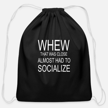 Social Socialize - Cotton Drawstring Bag