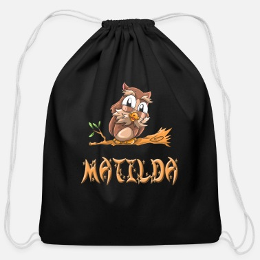 Matilda Matilda Owl - Cotton Drawstring Bag