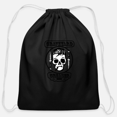 Lowkey Graveyard Greaser Vintage Logo - Cotton Drawstring Bag