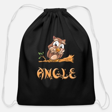Angle Angle Owl - Cotton Drawstring Bag