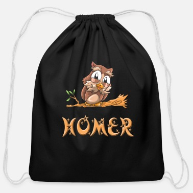 Homer Homer Owl - Cotton Drawstring Bag