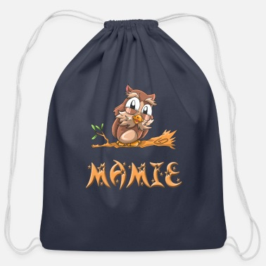 Mami Mamie Owl - Cotton Drawstring Bag