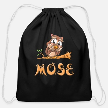 Moses Mose Owl - Cotton Drawstring Bag