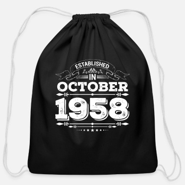 Established Established in October 1958 - Cotton Drawstring Bag