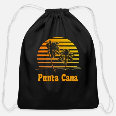 Punta Cana Punta Cana Dominican Republic Sunset Palm Trees - Cotton Drawstring Bag
