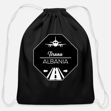 Tirana Tirana Albania - Cotton Drawstring Bag