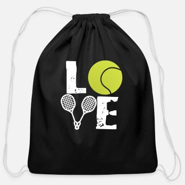 I Love Sports Wear Tennis Love - Sports Gift - Cotton Drawstring Bag