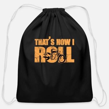 Motorcycle motorcycle - Cotton Drawstring Bag