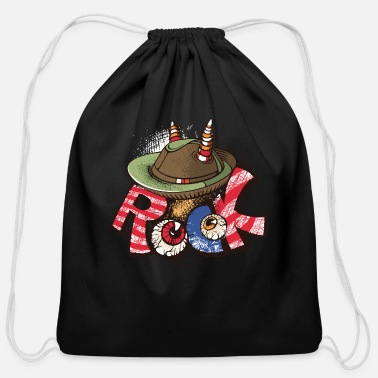 Popartcontest Rock lable crazy eyes vector cartoon image funny - Cotton Drawstring Bag