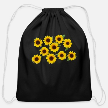 SUN FLOWER FACING THE SUN ALWAYS WHATEVER MIGET BE - Cotton Drawstring Bag