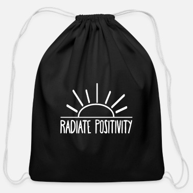 Positivity Radiate Positivity - Cotton Drawstring Bag