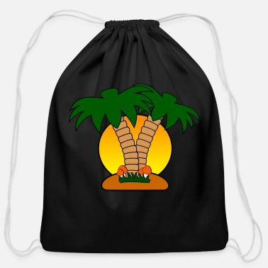 Island island - Cotton Drawstring Bag