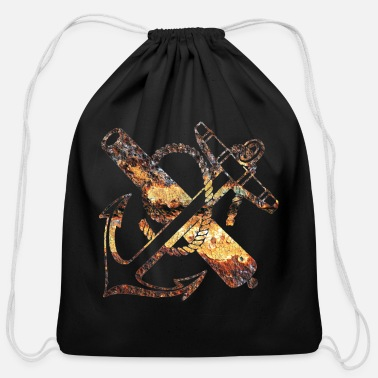 Cult rusty anchor - Cotton Drawstring Bag