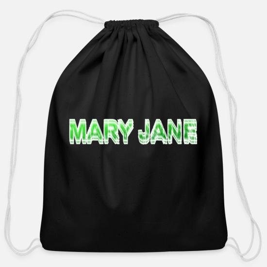 d532bb20f54 Mary Jane. Weed. Herb. Marihuana. Ganja. Cotton Drawstring Bag ...