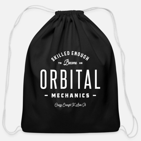 Labor Bags & Backpacks - Orbital Mechanics - Cotton Drawstring Bag black