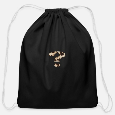 Mark Something question mark - Cotton Drawstring Bag
