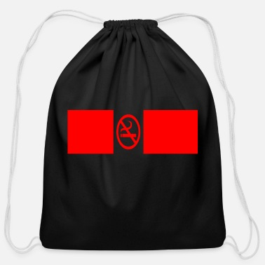 Smoking no smoking - Cotton Drawstring Bag
