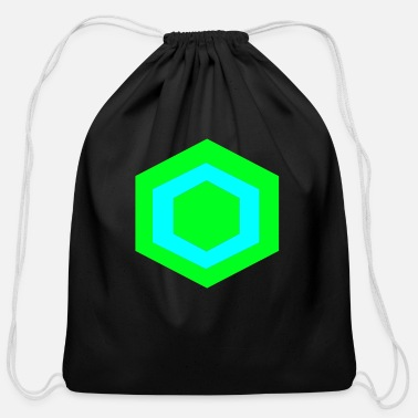 Hexagon hexagon - Cotton Drawstring Bag